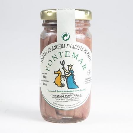 Anchoas de Santoña en aceite tarro 100